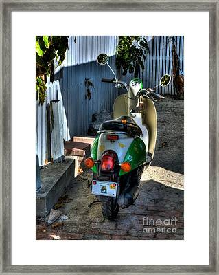 Key West Scooter Framed Print by Mel Steinhauer