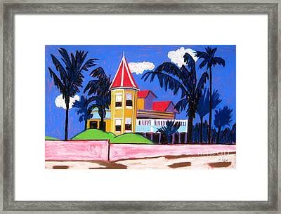 Key West Southern House Framed Print by Lesley Giles