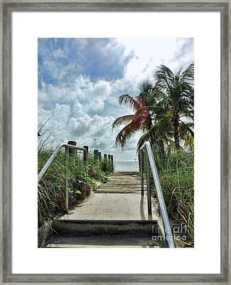 Key West Steps Framed Print by Joan  Minchak