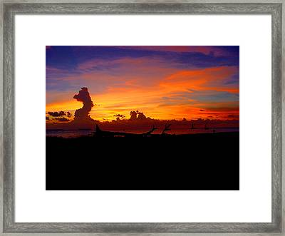 Key West Sun Set Framed Print by Iconic Images Art Gallery David Pucciarelli