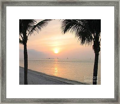Framed Print featuring the photograph Key West Sunet by Shelia Kempf