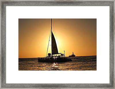 Key West Sunset Framed Print