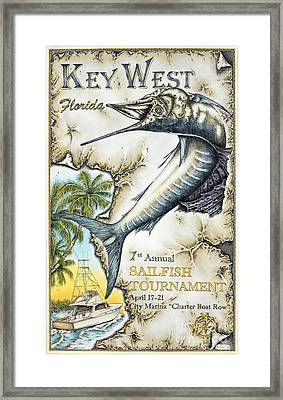 Key West Tournament Framed Print