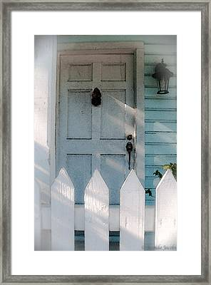 Key West Welcome To My Home Framed Print by Brenda Jacobs