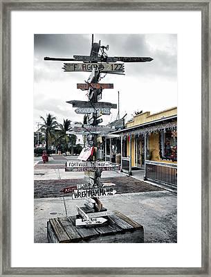 Key West Wharf Framed Print