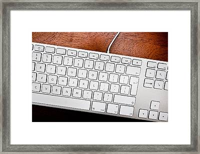 Keyboard Framed Print by Tom Gowanlock