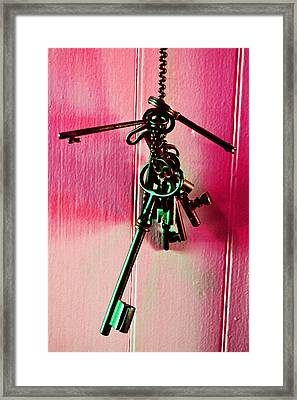 Keyed Framed Print