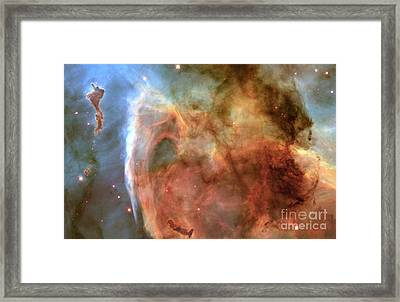 Keyhole Nebula, Ngc 3324 Framed Print by Science Source