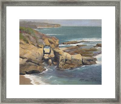 Keyhole Rock At The Montage Laguna Beach Framed Print by Anna Rose Bain
