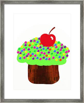 Keylime Cupcake Framed Print by Andee Design