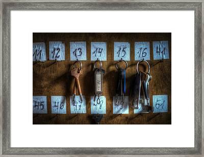 Keys Framed Print by Nathan Wright