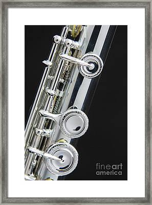 Keys Of A Flute Music Instrument In Color 3444.02 Framed Print