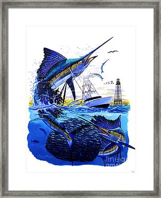 Keys Sail Framed Print