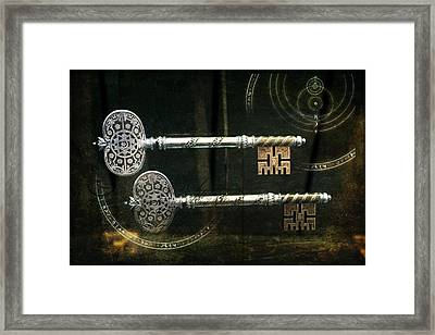 Keys To My Heart Are Silver And Gold Framed Print by Evie Carrier