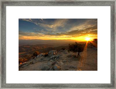 Keys View Sunset - Joshua Tree National Park Framed Print by Jackie Novak