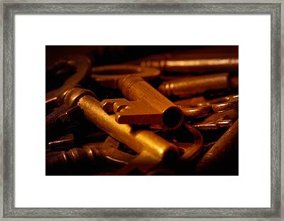 Framed Print featuring the photograph Keys by WB Johnston