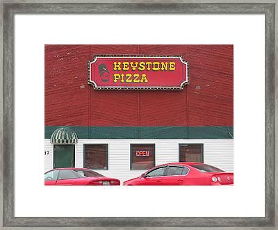 Keystone Pizza Framed Print