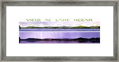 Kezar Lake View Framed Print by Mary Helmreich
