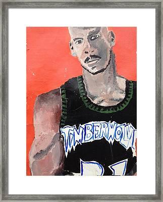 KG Framed Print by Brandon King