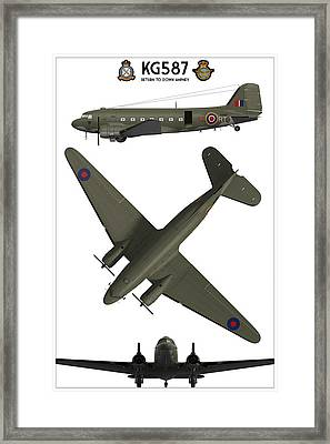 Kg587 - Return To Down Ampney Framed Print