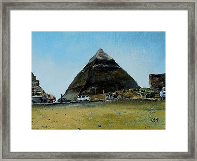 Khafre's Tomb Framed Print