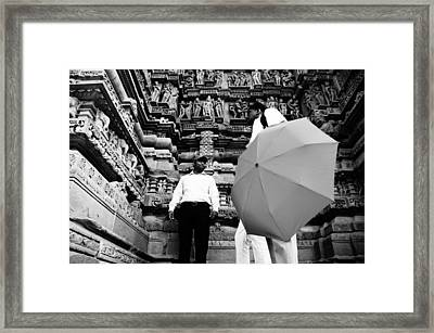 Khajuraho Temple Framed Print by Money Sharma