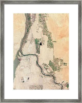 Khartoum Framed Print by Nasa Earth Observatory