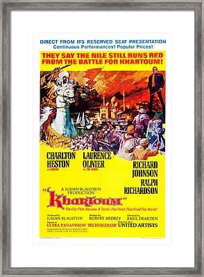 Khartoum, Us Poster, Laurence Olivier Framed Print