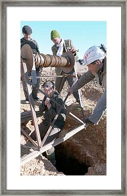 Khettara Access Shaft Framed Print by Thierry Berrod, Mona Lisa Production
