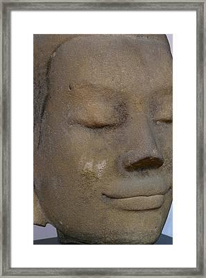 Khmer Head Framed Print