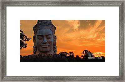 Khmer Sunrise Framed Print by Pete Reynolds