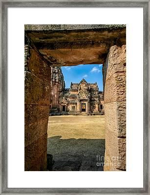 Khmer Temple Framed Print
