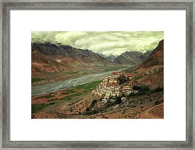 Ki Monastery Framed Print
