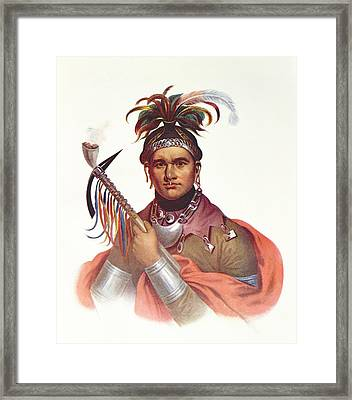 Ki-on-twog-ky Or Complanter, A Seneca Chief, 1796, Illustration From The Indian Tribes Of North Framed Print