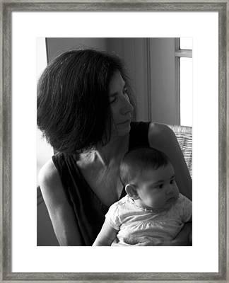 Kiara And Her Ami Framed Print