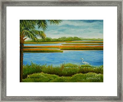 Framed Print featuring the painting Kiawah Marsh by Shelia Kempf