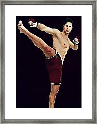 Kick Boxer Framed Print by Maynard Ellis