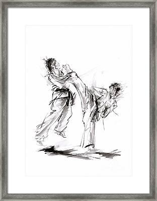 Kick. Framed Print by Mariusz Szmerdt