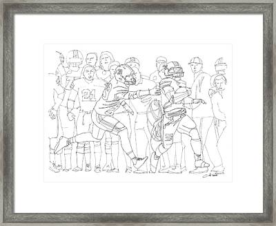 Kick Six Framed Print