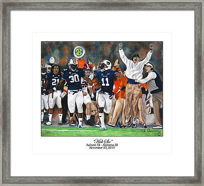 Kick Six Framed Print by Lance Curry
