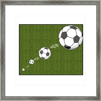 Kick The Ball Framed Print by Carrie Murphey