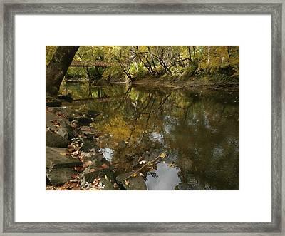 Kickapoo Creek Bridge Framed Print