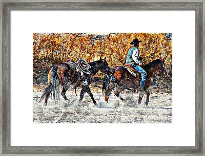 Kickin Up The Rio II Framed Print by Barbara Chichester
