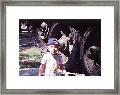 Kid And Tank. Framed Print by Vitaliy Shcherbak