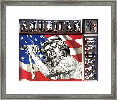 Kid Rock American Badass Framed Print