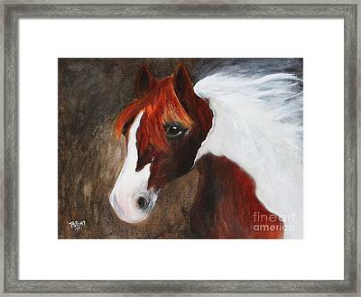 Framed Print featuring the painting Kidden by Barbie Batson