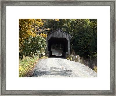 Kidder Hill Bridge Framed Print by Catherine Gagne