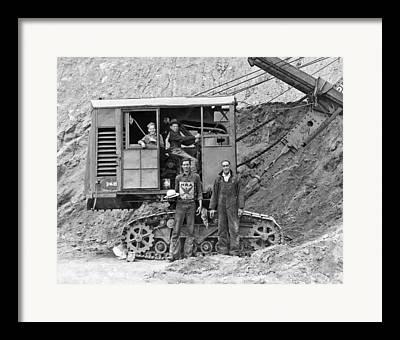 Steam Shovel Framed Prints