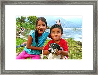 Kids From San Pedro Laguna Framed Print