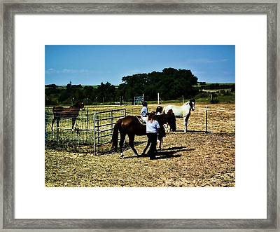 'kids Horse Heaven Paint' Framed Print